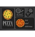 pizza food menu cafe brochure vector image vector image