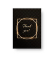 postcard with a gold frame vector image vector image