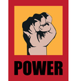 poster syle with fist vector image vector image