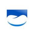 professional dental care smile blue symbol design vector image vector image