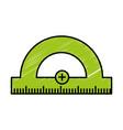 protractor ruler icon vector image vector image