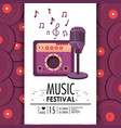 radio and microphone equipment to music festival vector image vector image