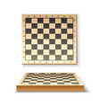 realistic wooden chessboard for chess game vector image