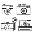 retro photo camera set in vector image vector image