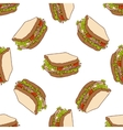 Seamless pattern color sandwich vector image vector image