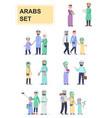 set arabs in national dress vector image
