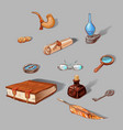 set of vintage icons vector image