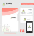 shopping bag business logo file cover visiting vector image vector image