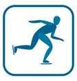 speed skating emblem vector image vector image