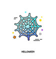 spider web icon halloween sticker vector image vector image