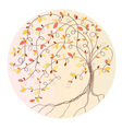 Stylized autumn tree vector image vector image