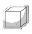 sugar cube sweet icon vector image vector image