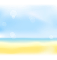 summer sea back vector image vector image
