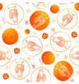 taurus zodiac sign seamless pattern vector image vector image