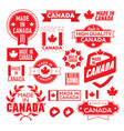 the label made in canada vector image vector image