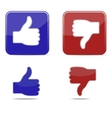 Thumbs up and thumbs down symbol icons