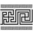 tibetan style border - buddhist pattern vector image vector image