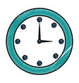 time clock isolated icon vector image