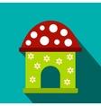 Toy house flat icon