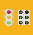 traffic light single flat icon on background vector image vector image