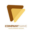 triangle logo template left arrow logo stock vec vector image vector image