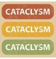 Vintage CATACLYSM stamp set vector image vector image