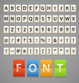 Alphabet and digits on paper diary vector image