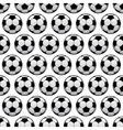 Balls for football or soccer game seamless pattern vector image