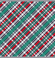diagonal tartan seamless texture vector image