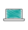 laptop computer isolated icon vector image