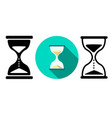 sand clock and hourglass icons in flat vector image