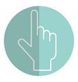 touch point hand vector image