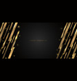 abstract modern banner web template design golden vector image vector image