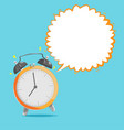 alarm clock bubble speech background vector image vector image