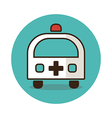 Ambulance flat icon Medical vector image