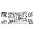 antique shop labels or badges vintage pocket vector image