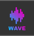 audio wave visual abstract logo music and audio vector image vector image