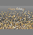 background with falling stars of confetti vector image vector image