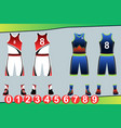 basketball jersey template vector image