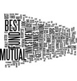 best mutual fund companies text background word vector image vector image
