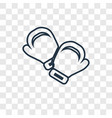 boxing gloves concept linear icon isolated on vector image