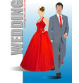 bride and groom are ready for wedding ceremony vector image