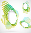 Bright green blue summer design elements vector image vector image