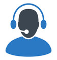 call center worker flat icon vector image