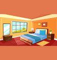 cartoon bedroom interior background vector image