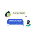 chat avatars a guy and a girl communication vector image vector image