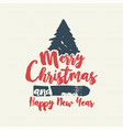 christmas text quote calligraphy tree vector image vector image