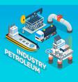 collection industrial symbols oil petroleum vector image