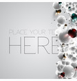 colorful and white bubbles background vector image vector image