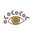 colorful eye talisman with moon as an occultism vector image